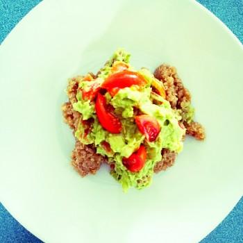 Clean Eats: Guacamole Over Spiced Quinoa