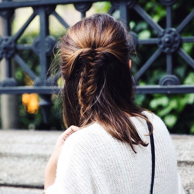 Her New Tribe - Half Up Fishtail Braid - Hairstyle