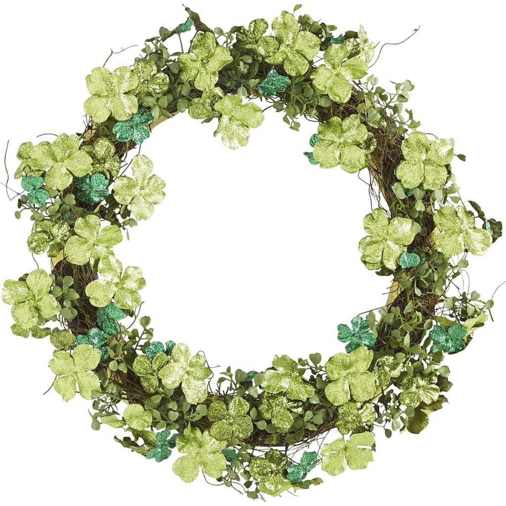 Pier 1 Imports - Glitter Shamrock Wreath