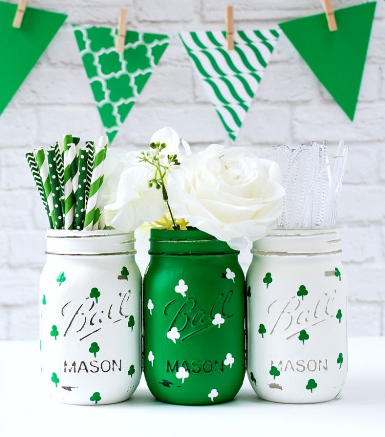 Shelterness - Shamrock Mason Jars
