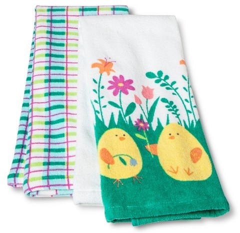Target - Easter Chicks Terry Kitchen Decorative Towels