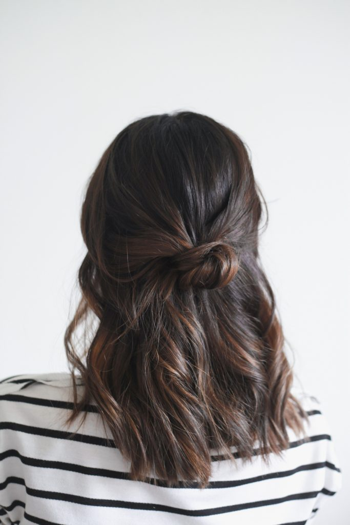 Treasures and Travels - Half Up Top Knot in 4 Easy Ways - Hairstyle