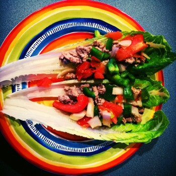 Clean Eats: Ground Turkey Romaine Wraps
