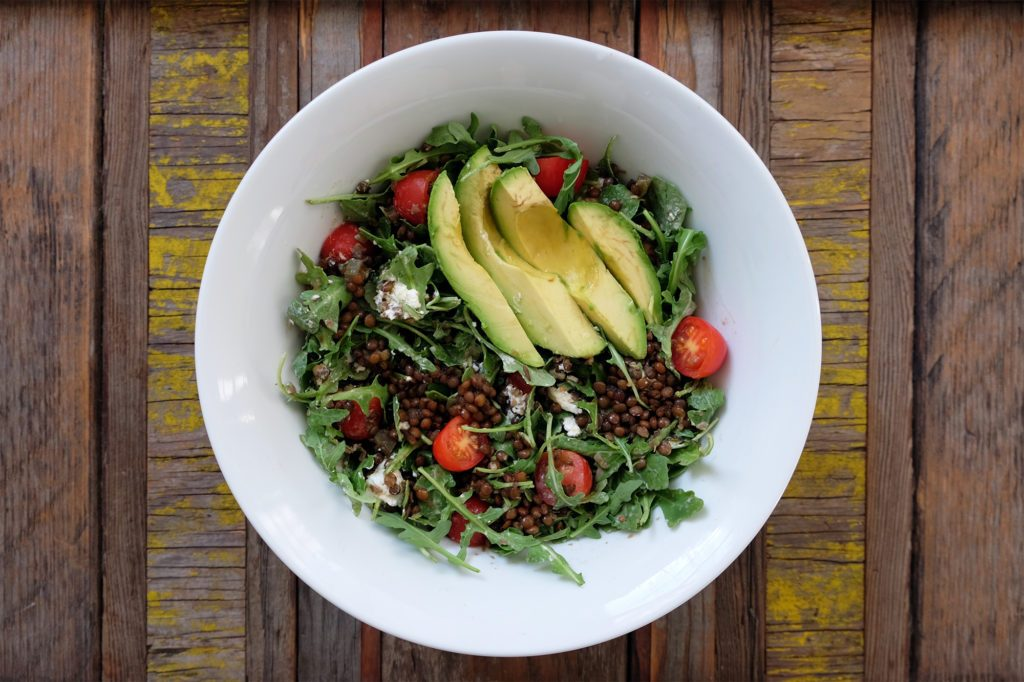 Ballet Beautiful - Mary Helen Bowers - Lentil Salad with Avocado and Arugula
