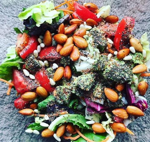 Instagram - DevonRichards_com - Salad with Soaked Almonds