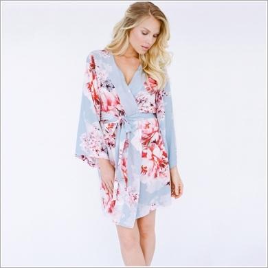 Shopstyle - Plum Pretty Sugar Kimono - Ocean Lulls the Billows Kimono